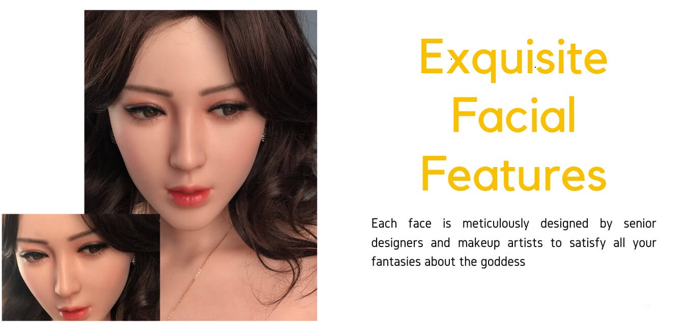 Gynoid doll facial feature