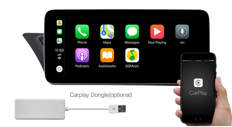 Audi A4 A5 android navigation support Apple Carplay Android Auto