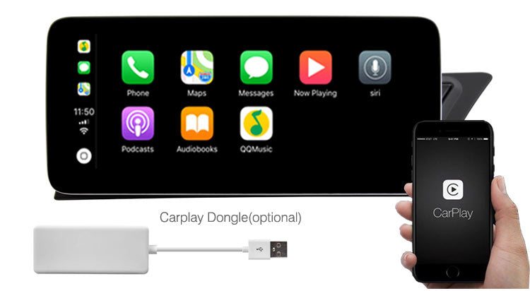 Audi A5 A4 navigation GPS support Apple Carplay & Android Auto
