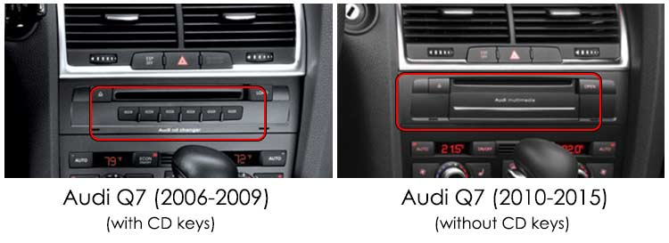 audi q7 car compatibility with android screen