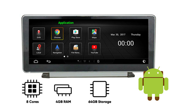 Audi A4 android GPS navigation screen