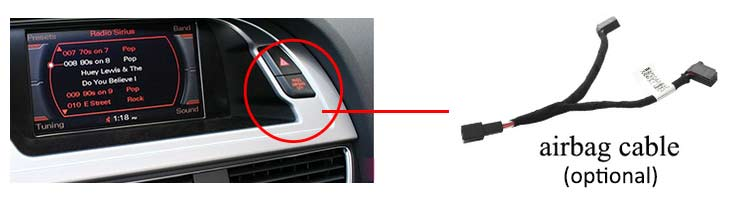 Airbag cable is optional (extra cost)