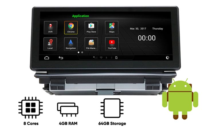 Audi Q3 android navigation built-in 4GB RAM 64GB ROM