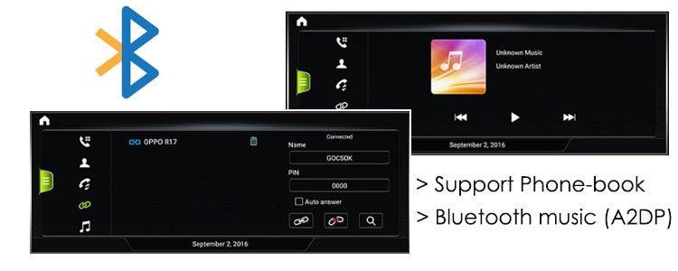 audi navigation android car stereo support bluetooth & A2DP