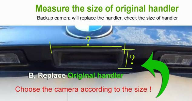 how to measure the original handler on the back of car