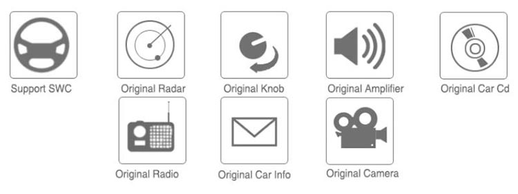 keep original radio features after replaced with android screen