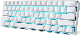 Ultra-Compact Bluetooth Mechanical Keyboard with 10 Hours Battery Life and Blue Switches