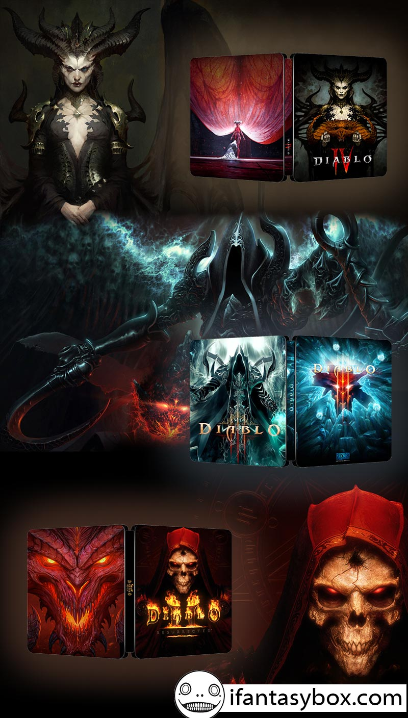 Diablo Steelbook Bundle | Diablo II Resurrected, Diablo III and Diablo IV