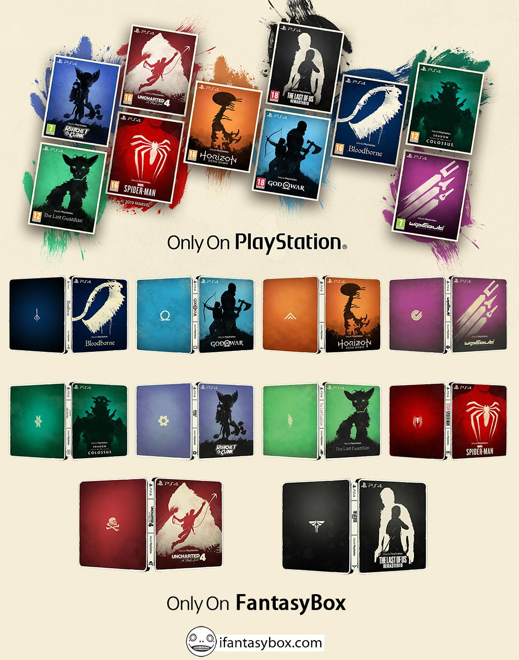 Only On Playstation | Classic Collection steelbook bundle