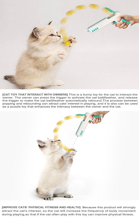 funny cat stick feather cat toys