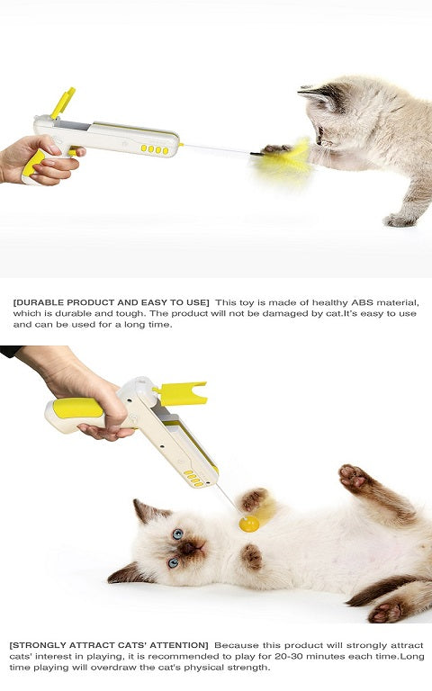 Interactive Stick Mouse Cat Ball