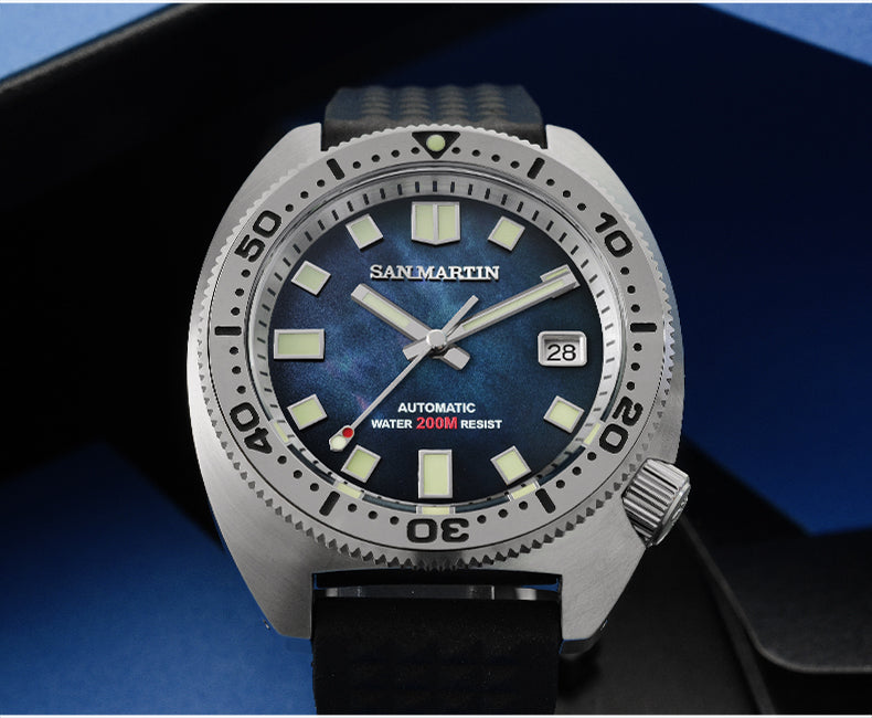 san martin 6105 8000 turtle automatic waches for men