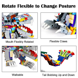 Rotate Flexible to Change Posture, Mouth Flexibly Rotated, Flexible Claws, Walkable, Tail Bobbing Up and Down