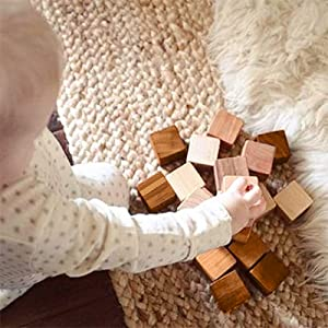 Baby play with rocsmac bamboo blocks