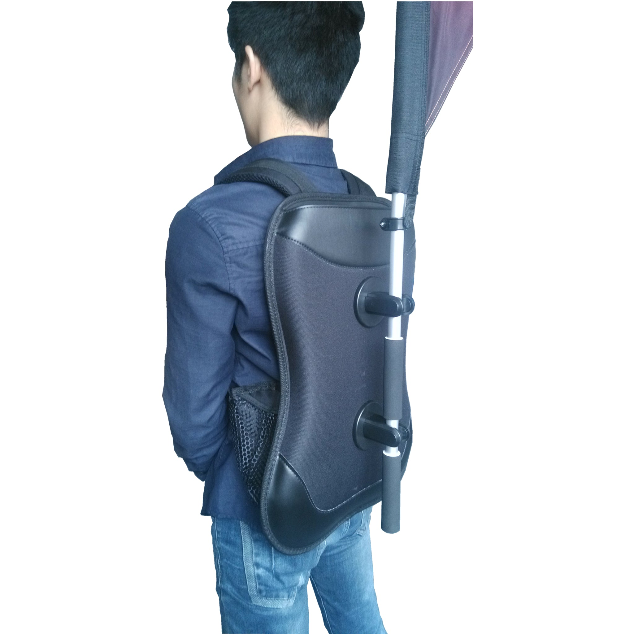 Backpack With Harness For Carrying Banners Flags