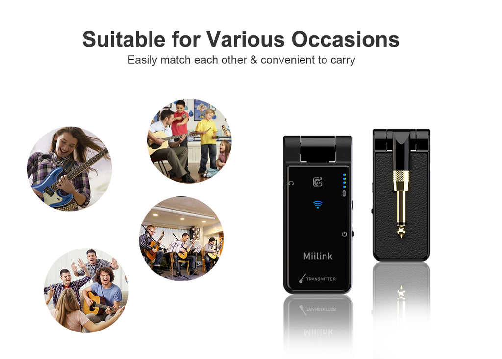 1Mii 5.8GHZ Wireless Guitar System, suitable for various occasions
