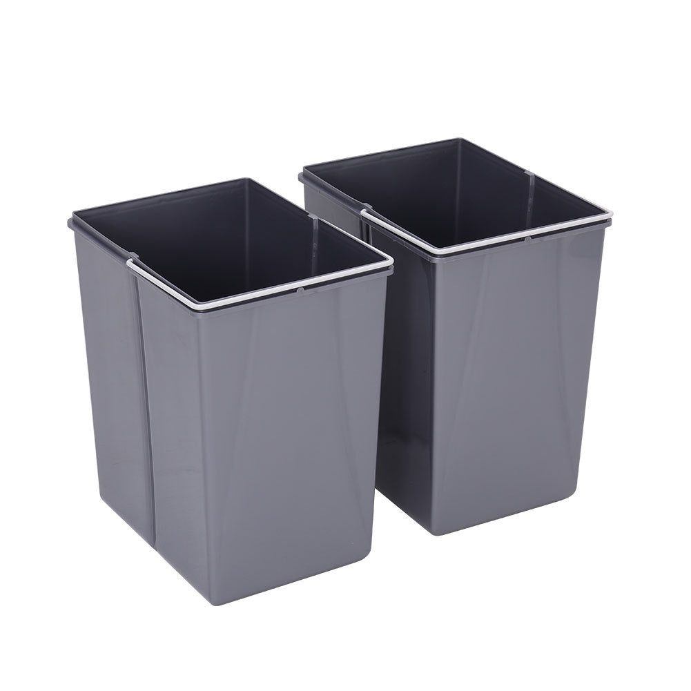 Plastic Pull Out Kitchen Waste Bin Soft Close Recycing Bin for 300/400MM Cabinet