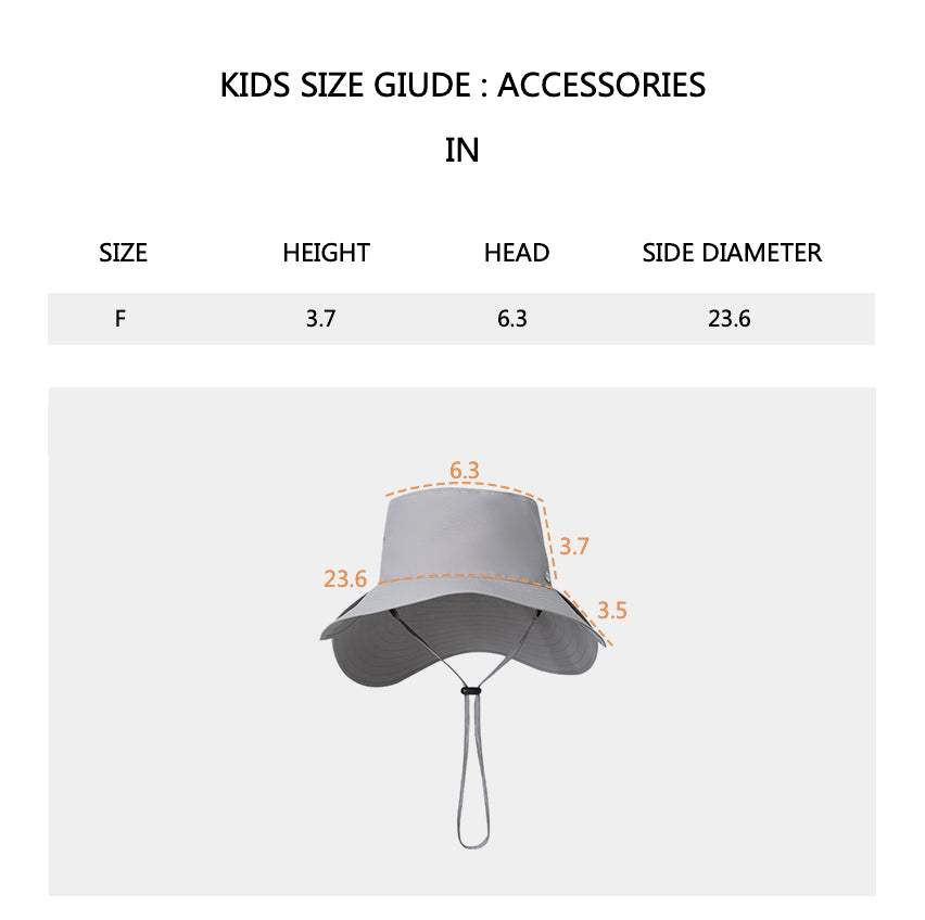 Size chart of Women's UV Protection Foldable Two Pieces Wide Brim Bucket Hat UPF 50+