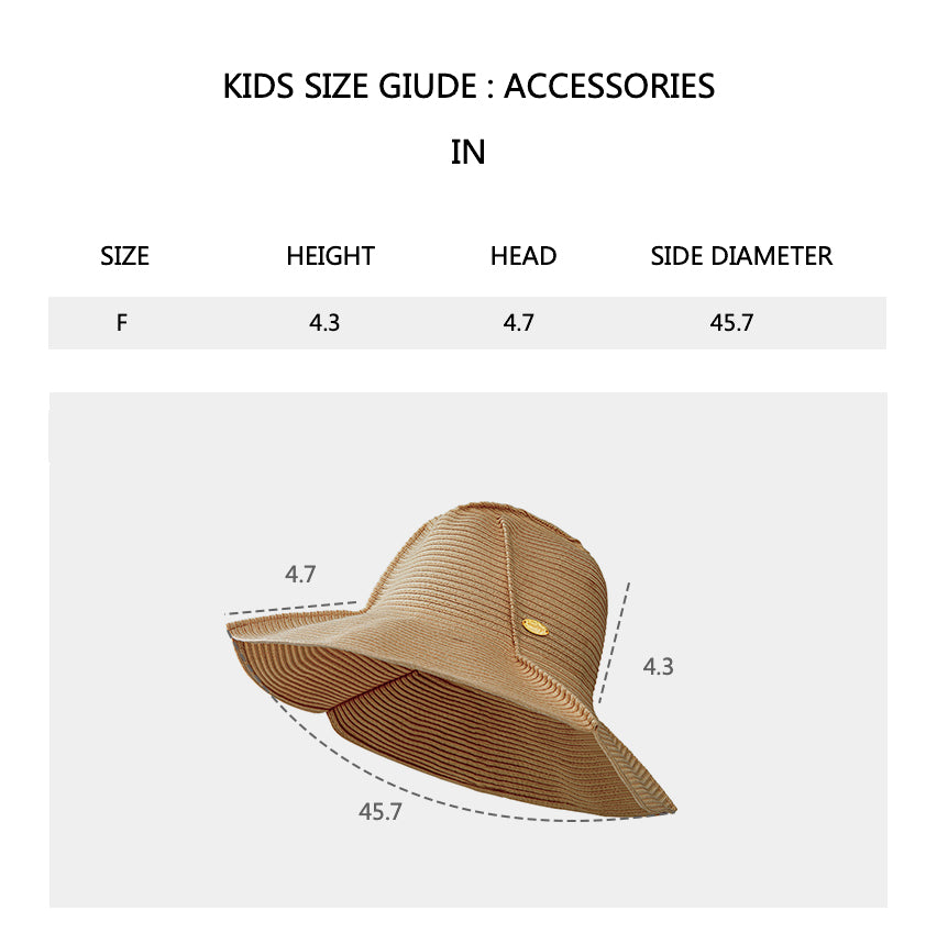 Size chart of Women's Wide-Brime Beach Foldable Floppy Hat UPF 50+