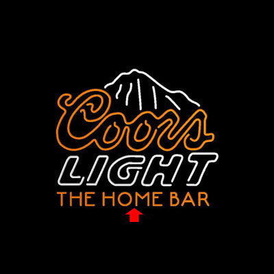 Coors Light Mountain Home Bar Custom Personalized custom sign pro led sign
