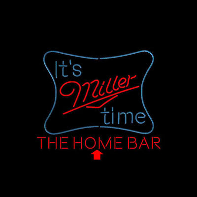 It's Miller Time Home Bar Custom Personalized custom sign pro led sign