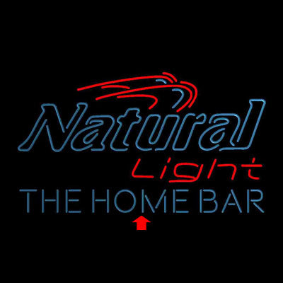 Natural Light Home Bar Gift Custom Personalized custom sign pro led sign