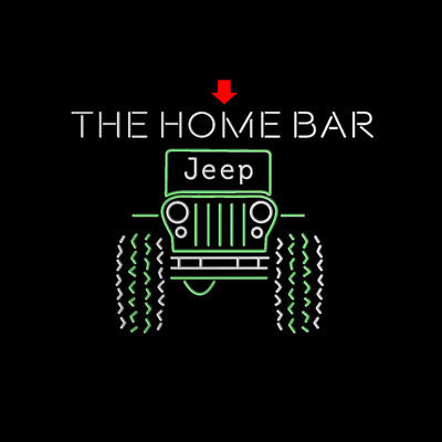 Only in a Jeep Truck Garage Custom Personalized custom sign pro led sign