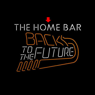Back to The Future Movie Home Theater Custom Personalized custom sign pro led sign
