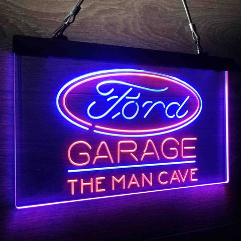 ford garage personalised led sign