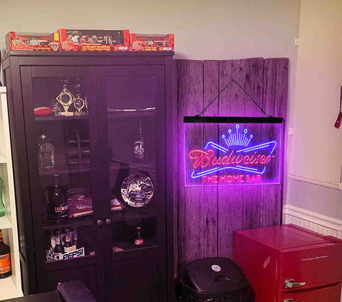 Budweiser King Home Bar Custom Personalized man cave sign-pro led sign