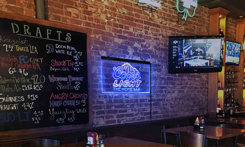 Coors Light Mountain Home Bar Custom Personalized neon sign-pro led sign