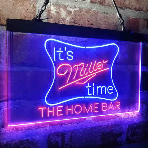 It's Miller Time Home Bar Custom Personalized custom sign-pro led sign