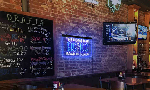 AC/DC Back in Black Music Band Custom Personalized neon sign-pro led sign