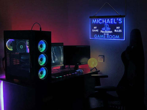 Custom Playstation My Game Room neon sign-pro led sign
