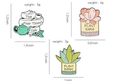 Potted Plants Pins