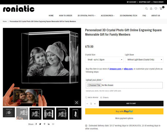3d crystal photo gift online