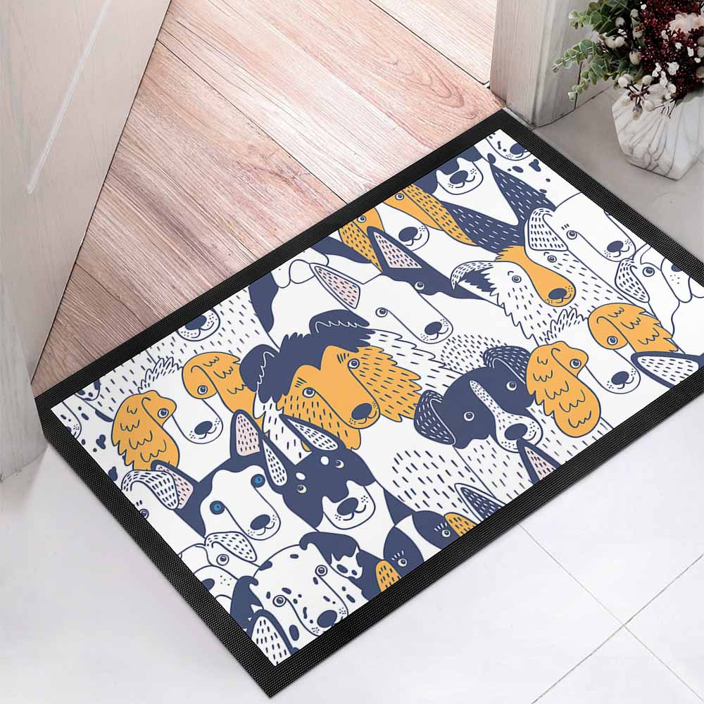 Black Rubber Coral Velvet Floor Mat Custom Design Printing with Your Photos Or Pictures