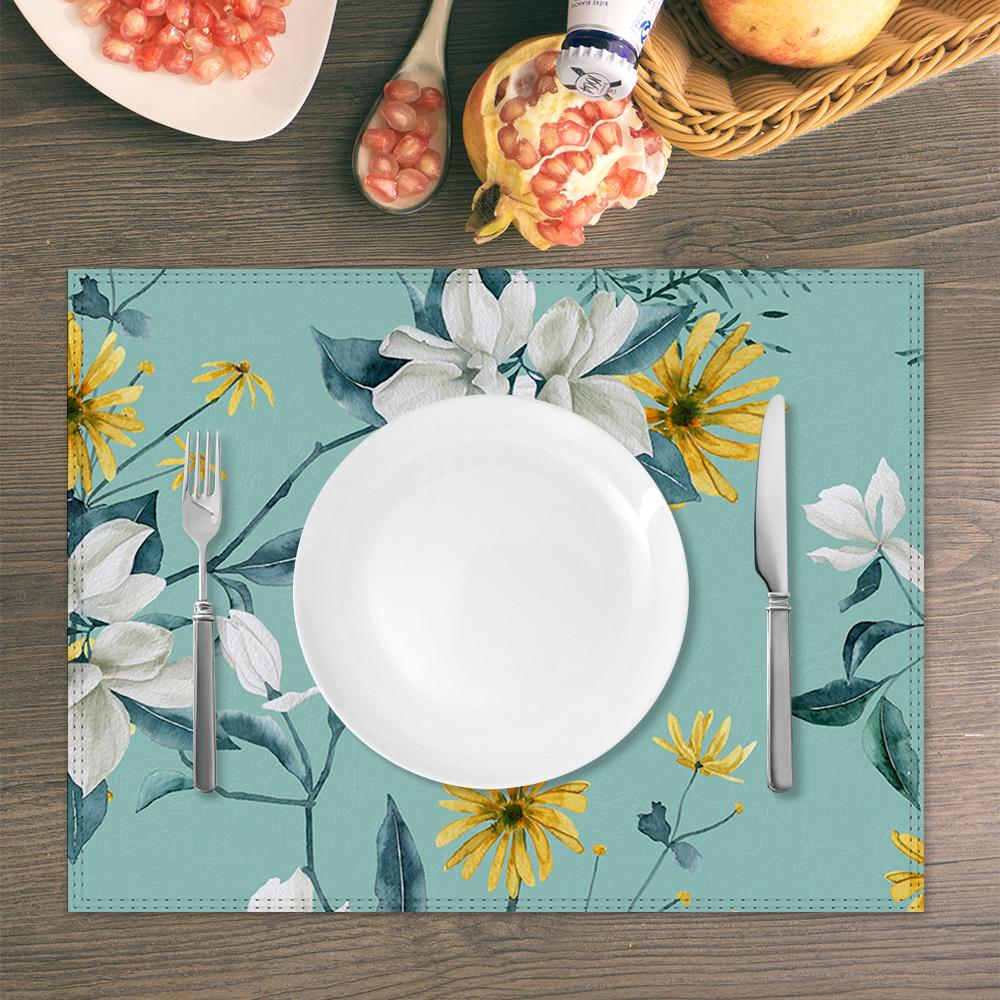 Decoration Table Mat Water and Oil Proof Placemat Custom Design Printing with Your Pictures or Photos