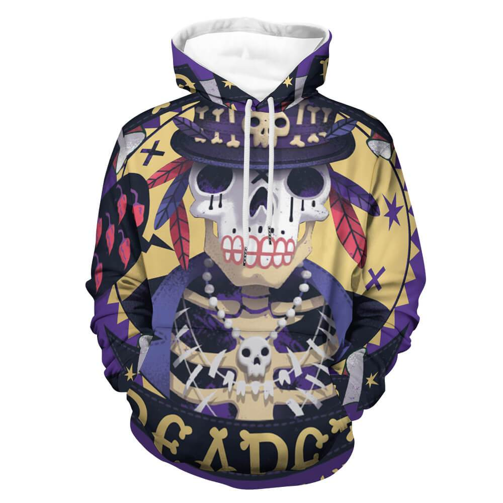 Full Print Hoodie with Pocket for Women and Men