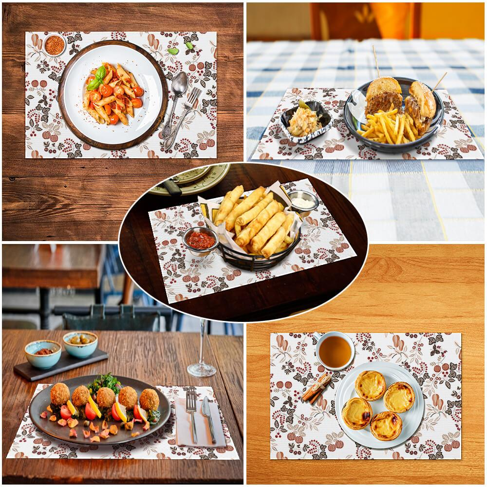 PVC Decoration Placemat Square Placemat PVC Table Mat Custom Design Printing with Your Photos Pictures or Text