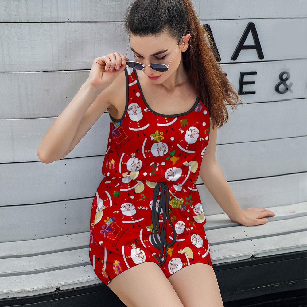 Women's Casual Loose Sleeveless Strappy Jumpsuit T05