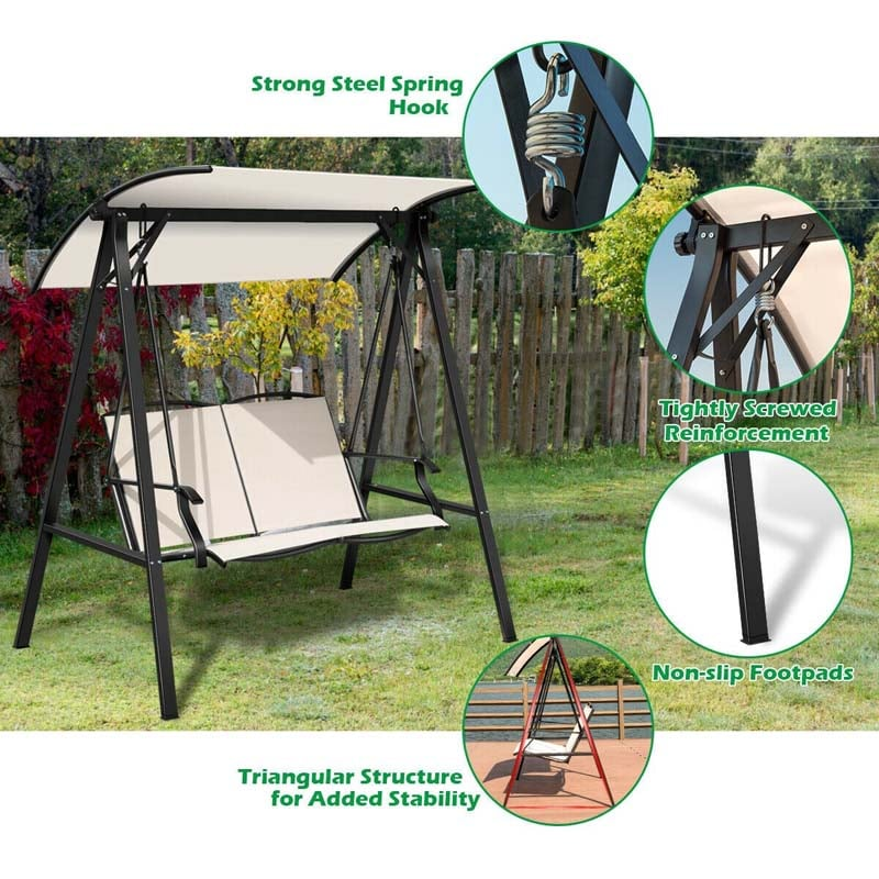 Patio Swing with Canopy - Outdoor Swings for Adults - Bestoutdor.com