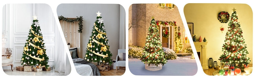 5ft Green Artificial Christmas Tree with Solid Metal Stand for Holiday Decoration