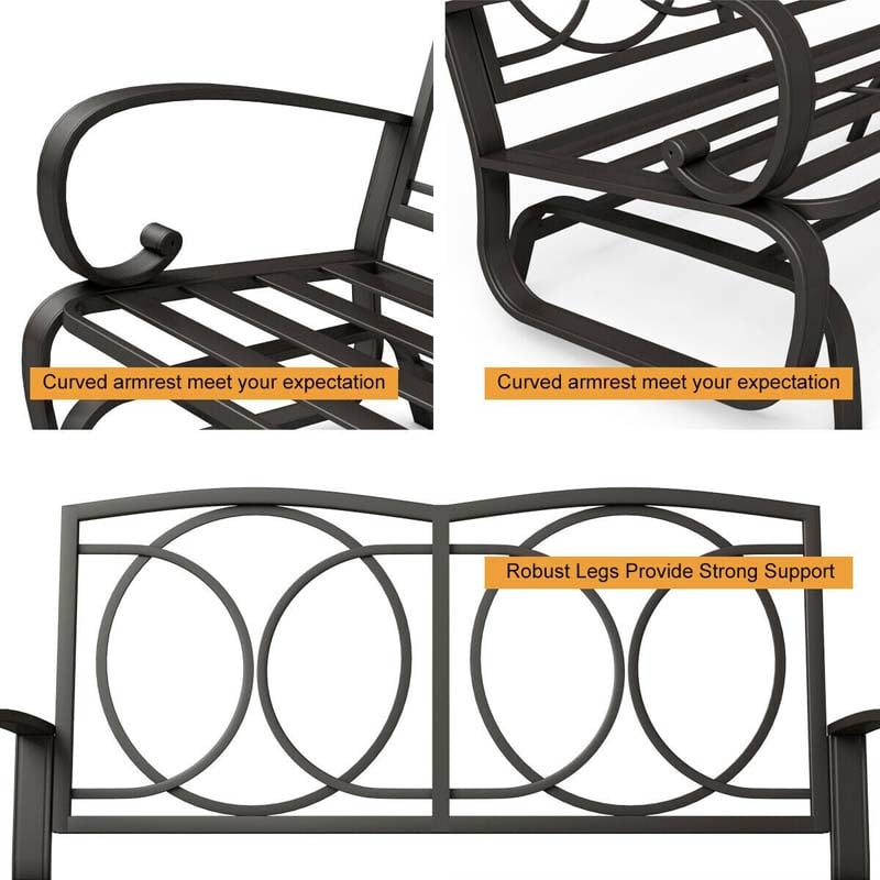 Outdoor Rocking Bench Patio Gliders, Outdoor Rocking Bench Seat