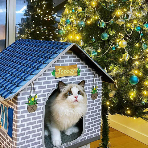 Toozey-cat-house-with-Christmas-tree