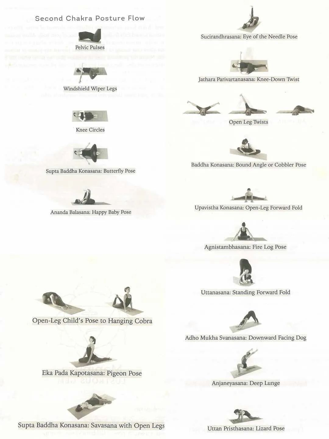 Practice and asana of the second chakra