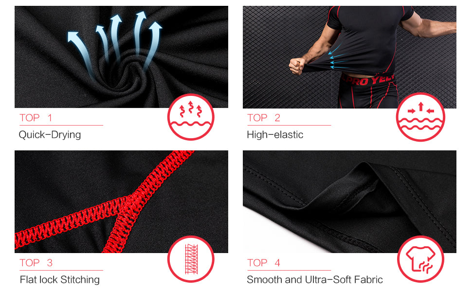 Detail view of sports compression tops