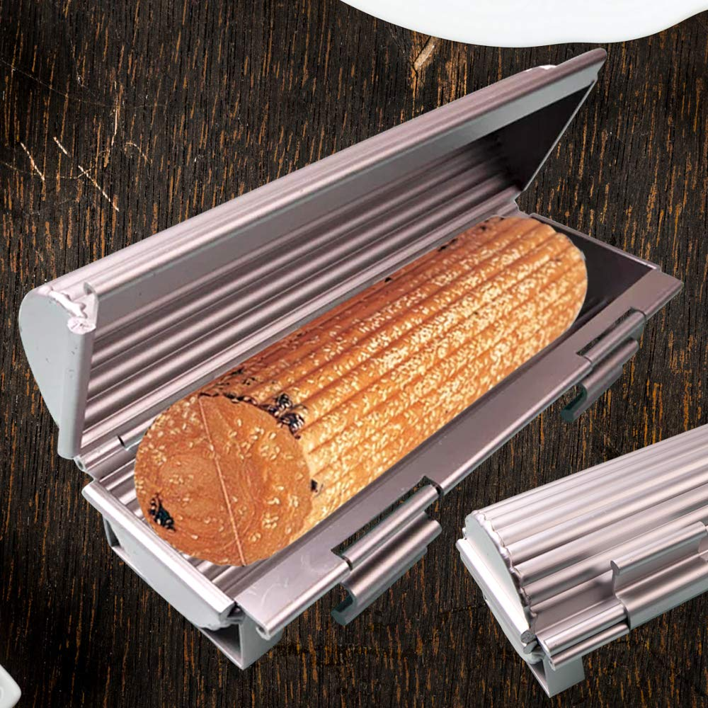 Aluminum bread toast mold non-stick bakeware-Opening and closing