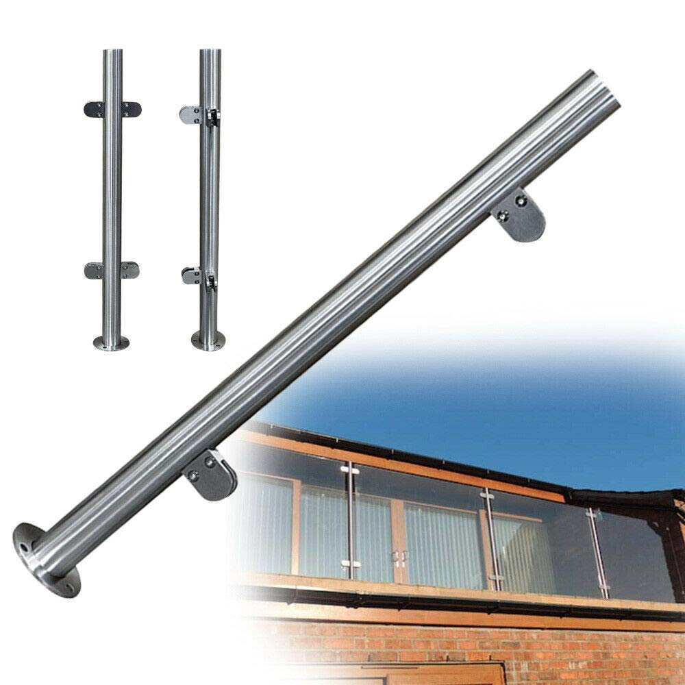Stainless steel Silver Balustrade Railing Post  (90cm Mid Post)