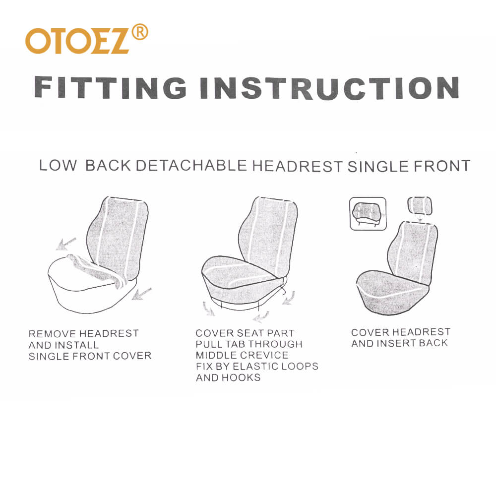 Fitting instruction of the 2mm sponge car seat covers